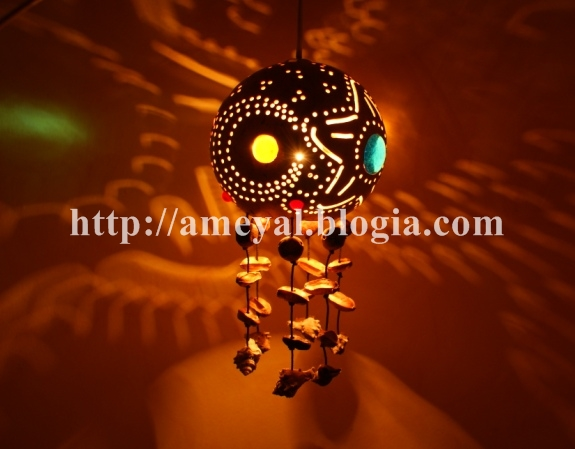 lampara con estrella y luna